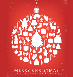 christmas greeting card with merry christmas and vector image