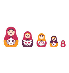 collection traditional russian folk handcrafted vector image