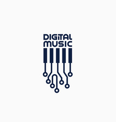 digital music logo vector image