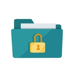 Folder Lock Icon vector
