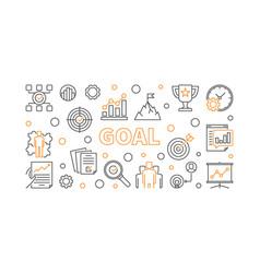 goal creative horizontal banner business vector image