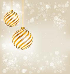 Golden spiral christmas balls vector