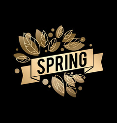 golden spring design big vector image