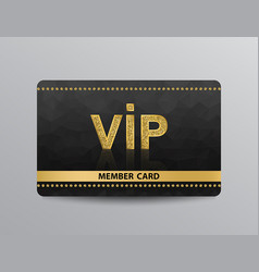 golden vip card with rivets vector image