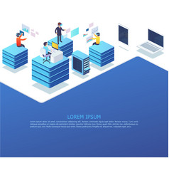 group business people working using digital vector image