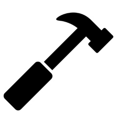 Hammer Flat Icon vector image