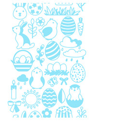 Happy easter seamless pattern with holiday items vector