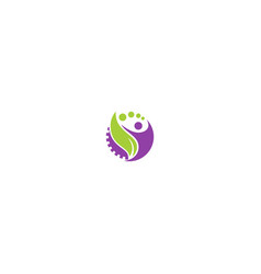 Happy man green leaf nature logo vector