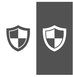 High security shield icon on black and white vector