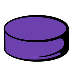 Hockey puck icon icon cartoon vector