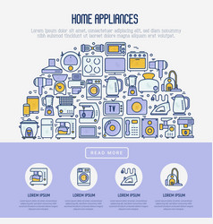 home appliances concept in half circle vector image