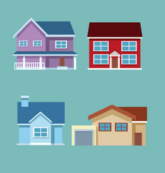 house cartoons collection vector image