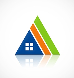 house triangle construction abstract logo vector image