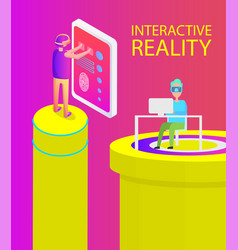interactive reality screen vector image