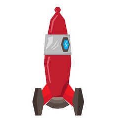 isolated geometric spaceship toy vector image