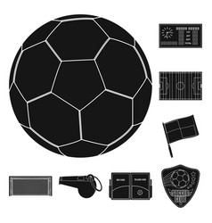 Isolated object of soccer and gear logo set of vector