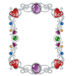 jewelry frame template vector image