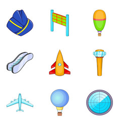 Locator icons set cartoon style vector