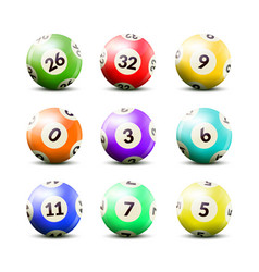 Lottery numbered balls set vector