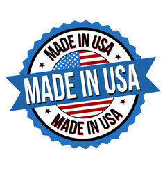 made in usa label or sticker vector image