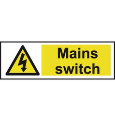 mains switch safety sign vector image