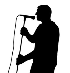 male singing vector image