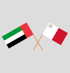 Maltese and uae flags vector