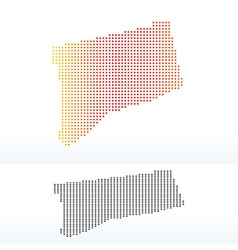 Map of USA Connecticut State with Dot Pattern vector
