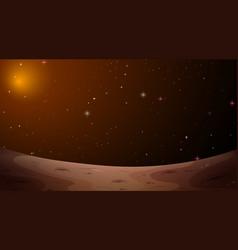Mars landscape space scene vector