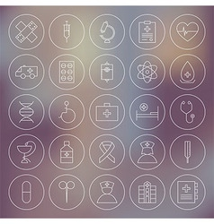 Medical Circle Health Care Icons Set vector image