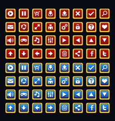 Medieval game buttons pack vector image