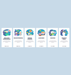 mobile app onboarding screens creativity vector image