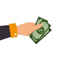 Money hand cash vector
