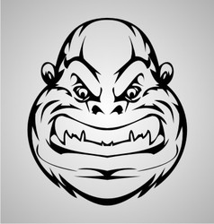 Monkey Face Tribal vector