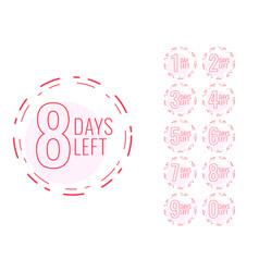 Number of days left symbol in minimal design vector