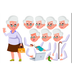 old woman senior person aged elderly vector image