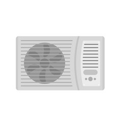 Outdoor air conditioner fan icon flat style vector