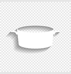 pan sign white icon with soft shadow on vector image