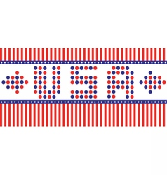Patriot Day with USA letters vector