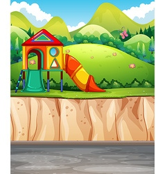 Playground at the park vector image vector image