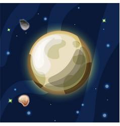 Pluto cartoon plutonus or vector