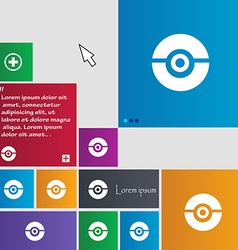 Pokeball icon sign buttons Modern interface vector