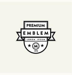premium monogram template for your emblems logos vector image