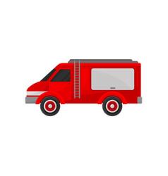 red van emergency vehicle side view vector image
