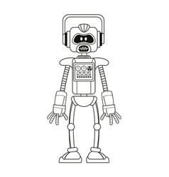 robot intelligence artificial thin line vector image