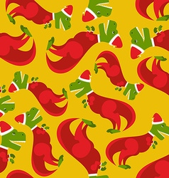 Santa Claus t-Rex Dinosaur in Santas red suit vector