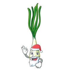Santa fresh scallion isolated on the mascot vector