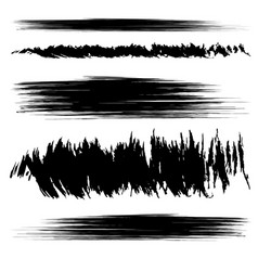 set black smears vector image