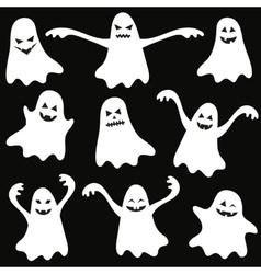 Set of halloween funny ghosts vector