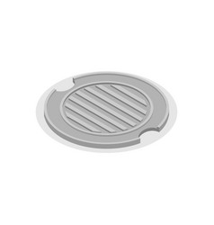 Sewer hatch closed manhole cover well hatch vector